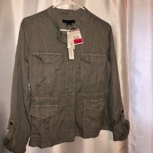 Olive colored light jacket
